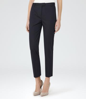 Reiss Atlas - Womens Slim-leg Trousers In Blue, Size 4