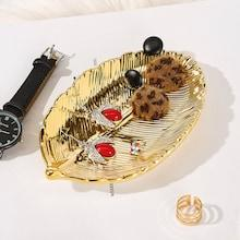 Romwe Leaf Design Jewelry Storage Tray 1pc