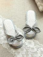 Romwe Bow Detail Flat Slippers