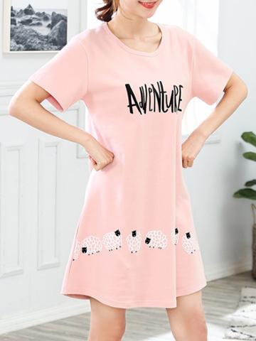 Romwe Letter Print Dress