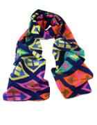 Romwe Latest Designs Bohemian Style Colorful Knitted Women Silk Scarf