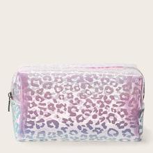 Romwe Leopard Pattern Makeup Bags