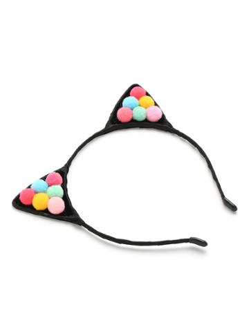 Romwe Pom Pom Decorated Cat Ear Headband