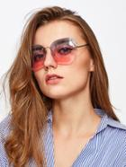 Romwe Ombre Lens Polygon Sunglasses