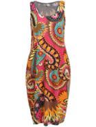 Romwe Sleeveless Florals Tight Tshirt Dress