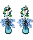 Romwe Blue Drop Gemstone Earrings