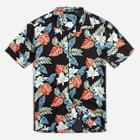 Romwe Guys Button Up Tropical Print Top