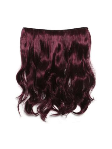 Romwe Black & Burgundy Clip In Soft Wave Hair Extension