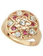 Romwe Fashion Simple Rhinestone Ring For Women