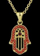 Romwe Red Bead Hand Necklace