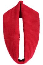 Romwe Fashion Knit Red Scarf