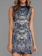 Romwe Sleeveless Printed Fitted Dress