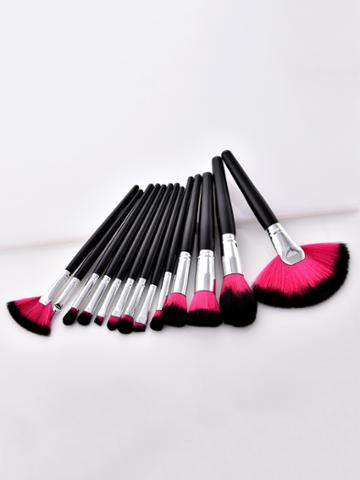 Romwe Two Tone Soft Bristle Makeup Brush 13pcs