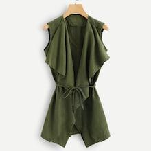 Romwe Sleeveless Solid Coat