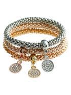 Romwe Rhinestone Charm Bracelet 3pcs