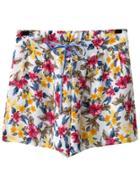 Romwe Multicolor Elastic Tie-waist Bow Print Shorts
