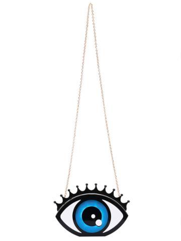 Romwe Blue Eye Chain Satchels