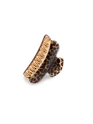 Romwe Leopard Hair Claw