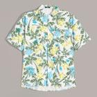 Romwe Guys Pocket Front Tropical Shirt