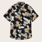 Romwe Guys Button Up Pineapple Print Shirt