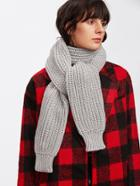 Romwe Textured Knit Scarf