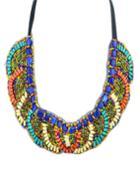 Romwe Fashion Bohemian Style Colorful Beads Necklace