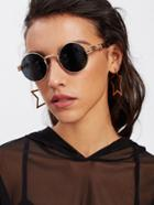 Romwe Metal Frame Round Sunglasses