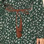 Romwe Tassel Decor Skinny Woven Belt