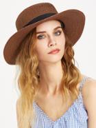 Romwe Straw Boater Hat