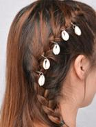 Romwe Golden Shell Feature Hair Wear - 5pcs