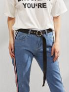 Romwe Belt With Metal Circle Buckle
