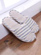 Romwe Striped Slide Slippers