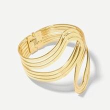 Romwe Layered Abstract Bangle Bracelet