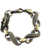 Romwe Copper Dragon Link Bracelet