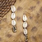 Romwe Quad Puka Shell Dangling Earrings