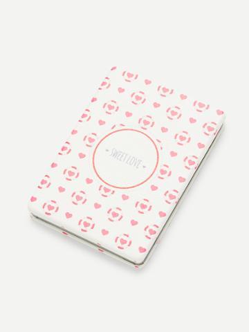 Romwe Printed Portable Folding Rectangular Mini Makeup Mirror
