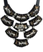 Romwe Black Diamond Chain Necklace