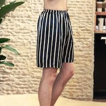 Romwe Men Striped Sleep Shorts