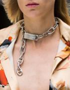 Romwe Unique Punk Style Silver Plated Choker Chunky Chain Necklace