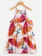 Romwe Leaves Print Cami Dress