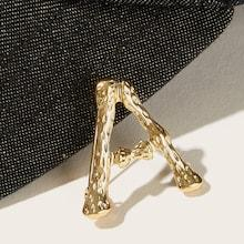 Romwe Letter Shaped Brooch 1pc