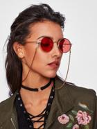 Romwe Colorful Glasses Chain