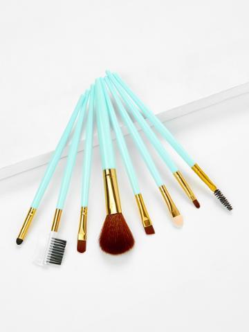 Romwe Two Tone Handle Makeup Brush Set 8pcs