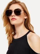 Romwe Metal Frame Aviator Sunglasses