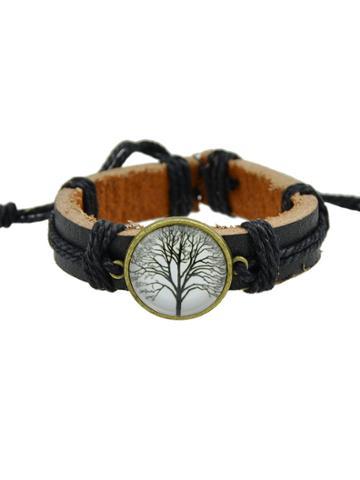 Romwe White Hiphop Jewelry Rock Style Pu Leather Bracelets