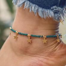 Romwe Star Charm Beaded Anklet