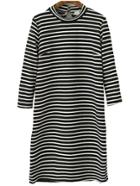 Romwe Striped Keyhole Tshirt Dress