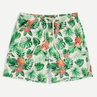 Romwe Guys Drawstring Waist Tropical Shorts