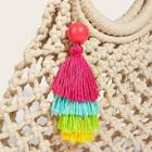 Romwe Bead Decor Layered Tassel Bag Accessory