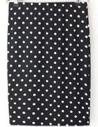 Romwe Polka Dot Slim Skirt